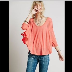 M Free People Pink Tambourine Flowy Top